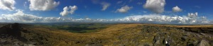 From the top of a trig point.